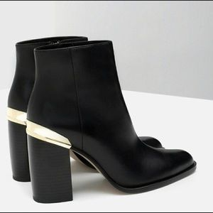 Zara 100% Leather Boots